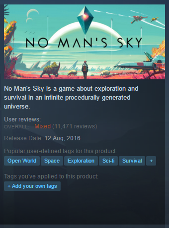 Mixed reviews for No Man's Sky