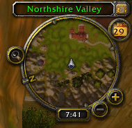 Default minimap showing a top-down view of the area around the player